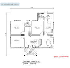 Small Picture Floor House Plan 1155 Sq Ft Kerala Home Design And Floor Plans