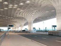 the airport s arrivals and departures area offers passengers shelter from rain particularly during india s monsoon