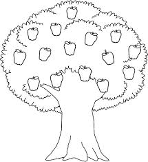 Small Picture Printable Apple Tree Coloring Sheet For Kids Shapes and patterns