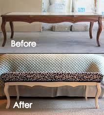 how to repurpose old furniture. Exellent Furniture DIY Stylish Ottoman From An Old Coffee Table Intended How To Repurpose Furniture H