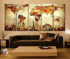 >amazon xlarge 30 x 70 5 panels 30x14 ea art canvas print  xlarge 30 quot x 70 quot 5 panels 30x14 ea art canvas print original wonders of