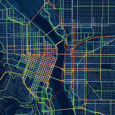 drunk traffic map of portland duis  doug mccune