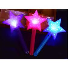 Led Christmas Light Sticks Amazon Com East Majik Led Light Up Star Shape Wand Fairy