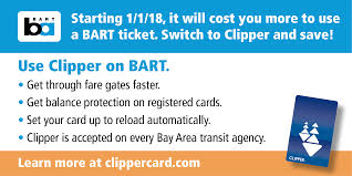 Get Clipper And Save New Fares Effective Jan 1 2018