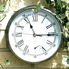 outdoor clock thermometer outdoor wall clock and thermometer large outdoor clocks and thermometers outdoor clock thermometer