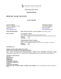 Basic Resume Outline 22 Simple Sample Of Resume And Free Templates