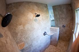 custom home walk in shower