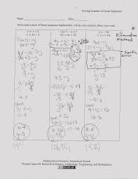 solving systems of three equations worksheet answers activities