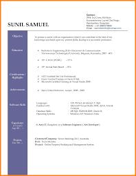 Modern Resume Template Windows Basic Resume Template Doc Cv Sample Download Templates Pdf