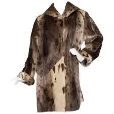 yves saint lau 90s seal skin fur coat for