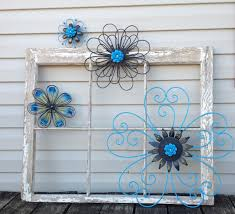 black turquoise blue metal wall flowers metal wall art 4
