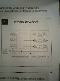 electrical wiring bathroom exhaust fan heater home