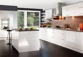 modern white kitchens with dark wood floors. Unique Modern Interesting White Kitchen Ideas With Dark Floor Tiles Also Laminated Wooden  Countertop And Backplashes Combine Storage Drawers Plus Standing Cooker  Inside Modern Kitchens Wood Floors E