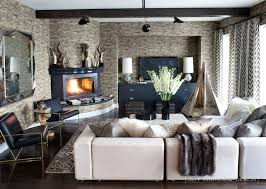 contemporary living room with corner fireplace. Corner Fireplace Contemporary Living Room With E
