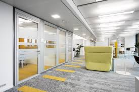 office corridor door glass. The Result Is A Continuously Flush Transparent Glass Corridor Wall With Enhanced Soundproofing. Fecofix Door Element Sound Insulation Value Office S