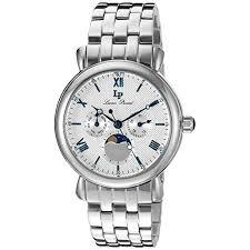 lucien piccard mens lp 40007 22s sierra analog display quartz lucien piccard mens lp 40007 22s sierra analog display quartz silver watch