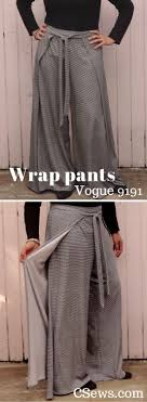 Wrap Pants Pattern