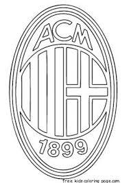 Ac Milan Logo Soccer Coloring Pages Ac Milan Ac Milan Football