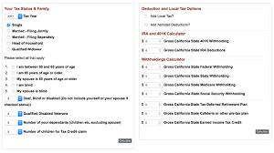 Payroll Checks Payroll Tax Withholding Calculator California