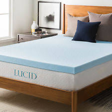 memory foam mattress topper packaging. LUCID 3 Inch Gel Memory Foam Mattress Topper - King New In Damaged Package Packaging T