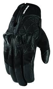 icon mens 1000 collection akromont leather street riding gloves black black