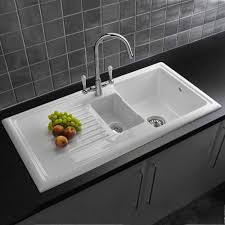 Granite Kitchen Sinks Uk Reginox 15 Bowl White Ceramic Kitchen Sink Amp Waste Rl301cw Ebay
