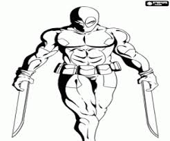 Kleurplaat De Schurk Deadpool Kleurplaten