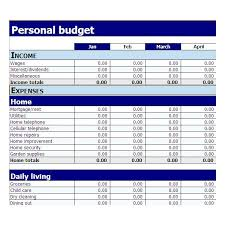 examples of personal budgets free simple household budget template