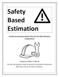 Safety Plans Custom Safety Based Estimation FINAL