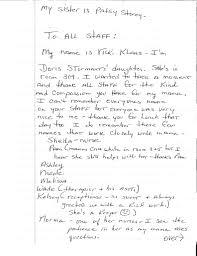 Nursing Thank You Letter Family Letters From Washington Co Nursing Home 6
