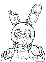 Print Freddy Five Nights At Freddys Printable Coloring Pages