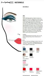 Face Charts To Print Mac Nocturnelle Face Chart Print For Students Facecharts