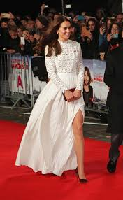 kate middleton flashes her thigh in stunning lace dress at movie photo getty images