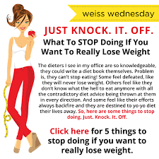 it off 5 things to stop doing if you want to really lose weight