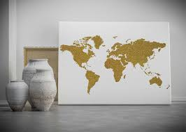 world map decor gold world map printable wall art gold glitter world map poster