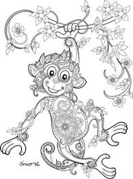 adult colouring pictures. Simple Colouring Monkey Coloring Page For Adult Colouring Pictures