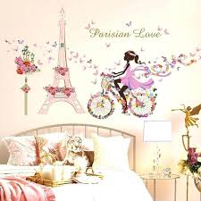 girls wall stickers flower fairy bicycle erfly flower tower wall sticker girls room kids nursery wall