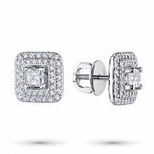<b>Серьги пусеты</b> (гвоздики) с <b>бриллиантами</b> – купить в Москве по ...