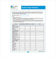 Sample Budget Worksheet New 48 Budget Sheet Templates Free Sample Example Format Download