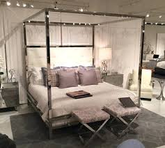 Metal Four Poster Bed Metal Chrome Four Poster Modern Canopy Bed ...