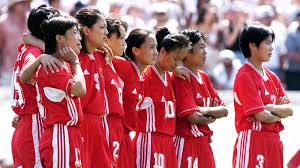 「On July 10, 1999, the U.S. women's soccer team defeats China to win their second Women's World Cup.」の画像検索結果