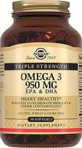 Солгар <b>Тройная Омега-3 950 мг ЭПК</b> и ДГК капсулы №50 ...