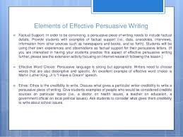 persuasive writing th grade 9 elements of effective persuasive writing