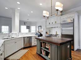 White And Gray Kitchen Updated White Transitional Kitchen Artisan Group Hgtv