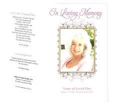 Memorial Templates Funeral Programs Free Elegant Free Funeral