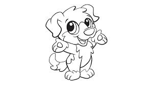Baby Dog Coloring Printable
