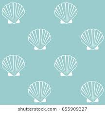 Seashell Design Seashell Pattern Marine Conch Repeating Vector Stock Vector Royalty