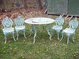 wrought iron garden furniture antique. antique victorian renaissance cast iron garden set ebay seller runnergirl445 wrought furniture
