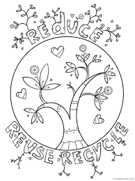 Reduce reuse recycle to colour. Recycling Coloring Pages Educational Recycling 2 Printable 2020 1805 Coloring4free Coloring4free Com