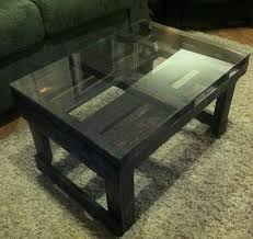 modern pallet furniture. Rustic Pallet Coffee Table With Glass Top Modern Furniture